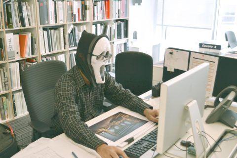 disfraz halloween oficina