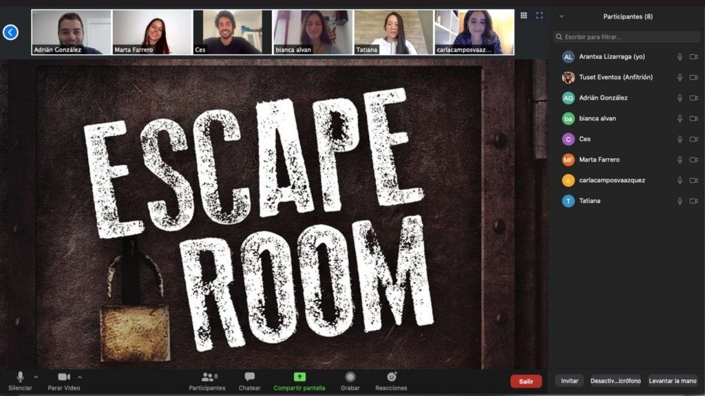 escape room virtual y online para empresas